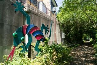 松の川緑道の爬虫類