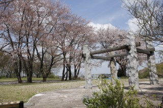 中川八幡山公園のオブジェ