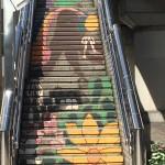 中川駅の階段アート【1】